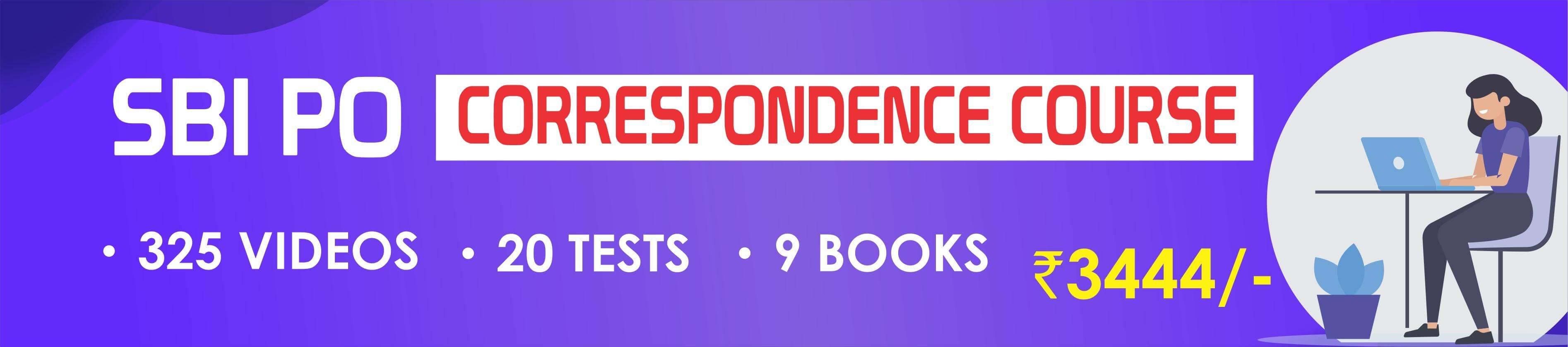 SBI PO Correspondance Course
