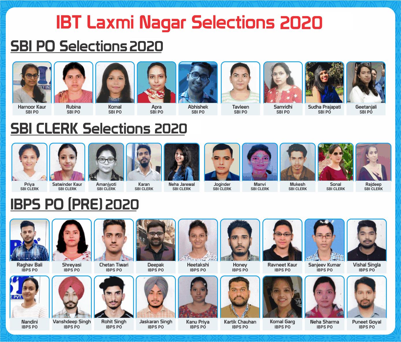 IBT Laxmi Nagar Selections