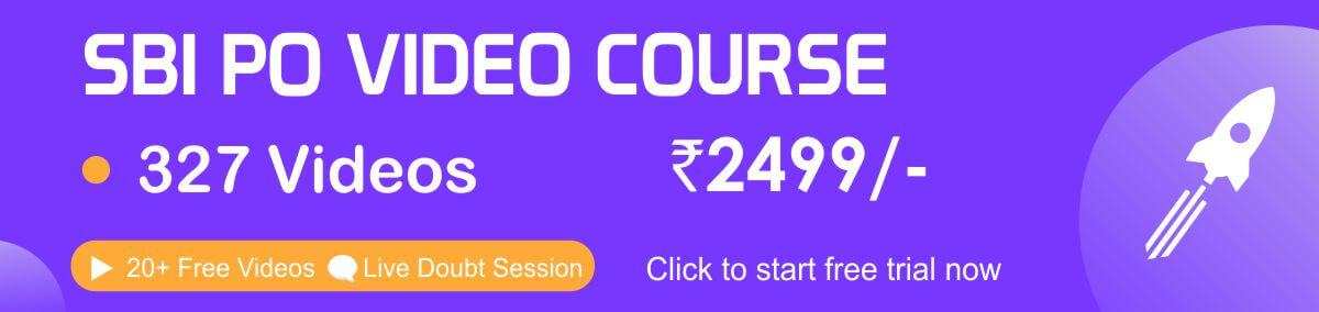 SBI PO VIDEO COURSE