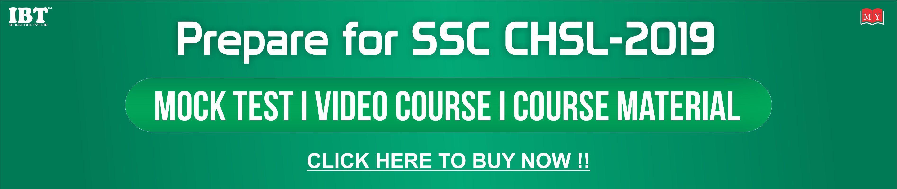 SSC CHSL Video Course
