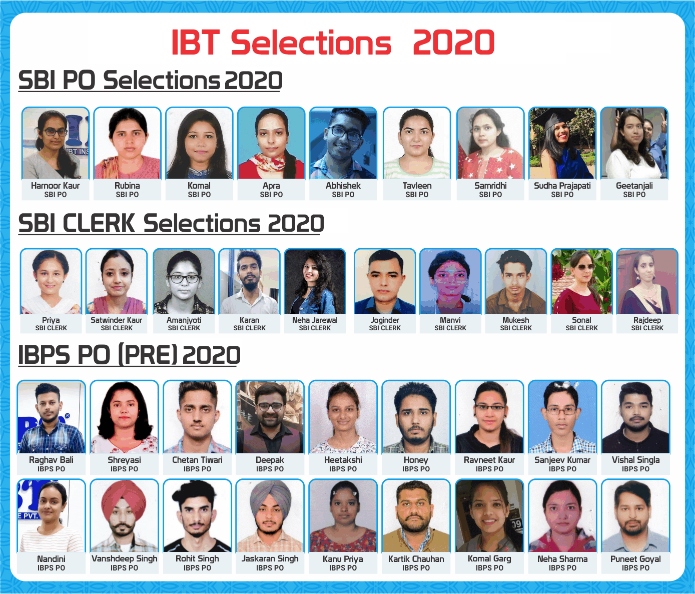 IBT Selections