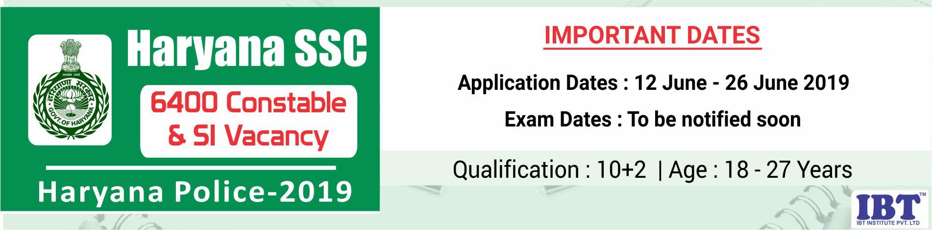 HSSC 2019: Haryana Police Constable Exam | Haryana Police