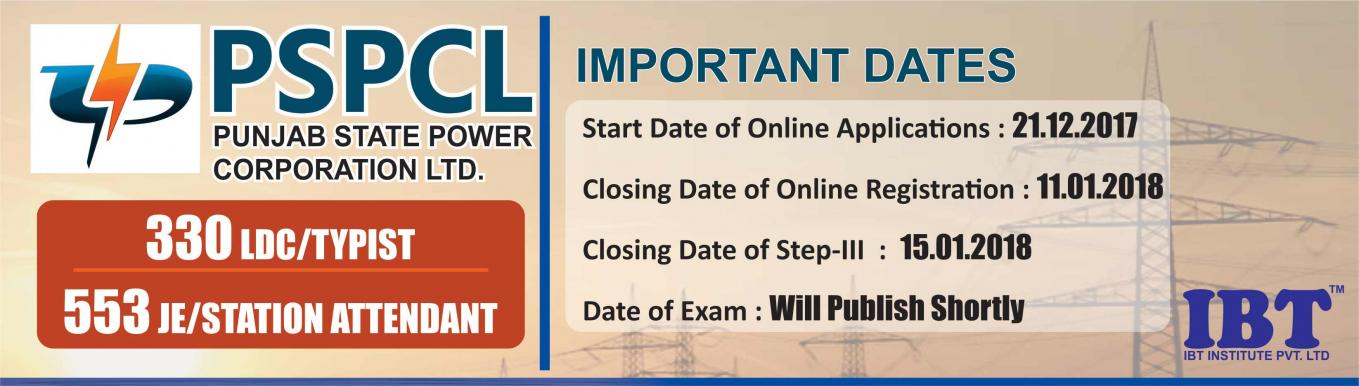 PSPCL 2018 - PSPCL 2018 Recruitment Notification | PSPCL 2018 Exam