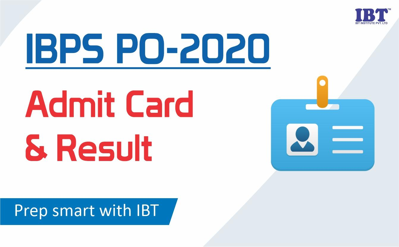 IBPS PO 2020 Admit Card and Result